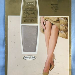 Sears Cling-alon Stretch Hosiery Stockings Vintage
